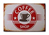 "Sketchfab ""Coffee Shop"" Wall Sign (Wooden, 30 cm x 20 cm)"