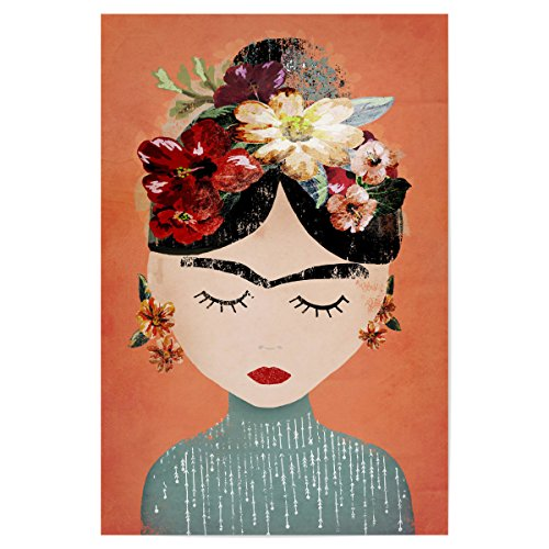 artboxONE Poster 120x80 cm Frida (orange Version) von Künstler treechild