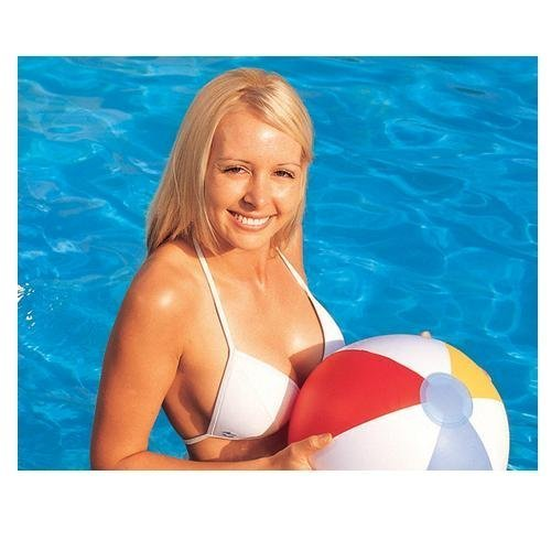 Bestway Splash and Play Blow-up Beach Ball 16 inch by Bestway