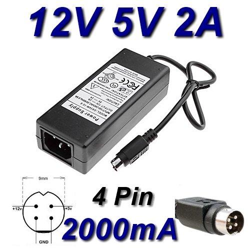 Netzadapter Ladegerät 12V 5V 2A 4Kiefer für Festplatte TrekStor dsmtu. cy-a