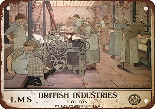 1924 British Industries Metallschild, Vintage-Look, Reproduktion, 30,5 x 45,7 cm