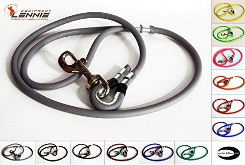 RUNDE BioThane® Führleine 8 mm (0,3-3 Meter [1,25 m], 13 Farben [Grau])