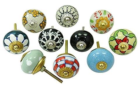 Vintage Ceramic Drawer Knobs Cabinet Hardware Decorative