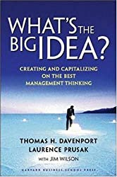 What's the Big Idea? Creating and Capitalizing on the Best New Management Thinking by Thomas H. Davenport (2003-04-02)