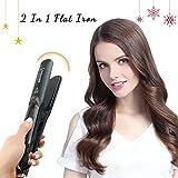 Best Hair Straightener, Hair Straightener Flat Iron, Ceramic Vapor Steam Natural Hair Straightener Hair Salon...