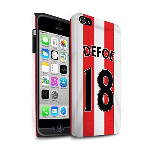 Offiziell Sunderland AFC Hülle / Matte Harten Stoßfest Case für Apple iPhone 4/4S / Pack 24pcs Muster / SAFC Trikot Home 15/16 Kollektion Defoe