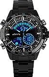 Infantry Herren Analog-Digital Uhr Outdoor Alarm Marine Blau Edelstahl Armband