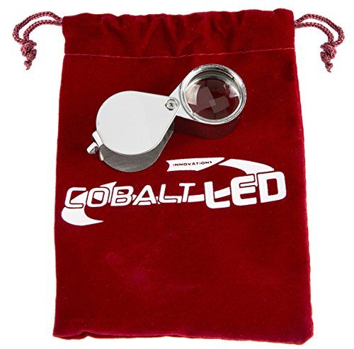 Cobalt® Pouch: Magnifier (30x Optical zoom). Pocket magnifying glass with 21mm lens diameter, made out of metal 1