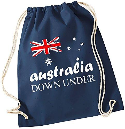 AUSTRALIA Vintage GYMBAG Down Under Australien Navy