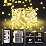 Lichterkette-batterie für kinderzimmer,Innen-LED,Timer-Fernbedienung mit IP65 Wasserdicht[5M] (warmweiß)