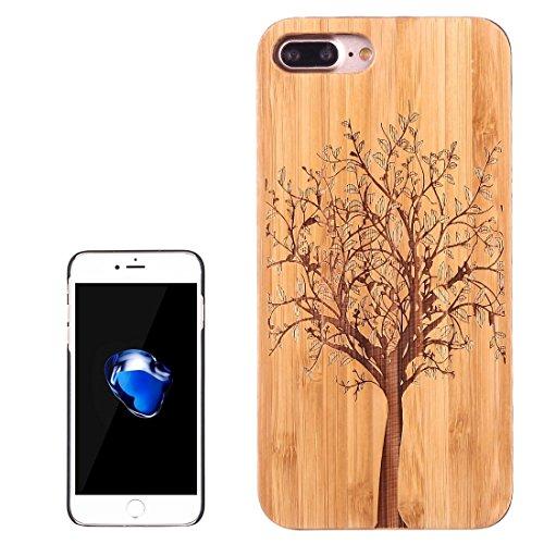Hülle für iPhone 7 plus , Schutzhülle Für iPhone 7 Plus Künstlerische Carving Löwenzahn Muster Carbon Bambus + PC Bordure Schutzmaßnahmen zurück Fall Shell ,hülle für iPhone 7 plus , case for iphone 7 Ip7p1453f