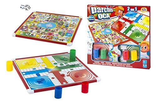 ColorBaby- Oca y Parchís Juego de Mesa Reversible CB Games