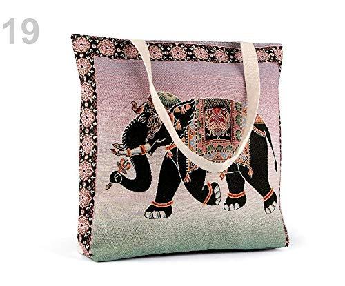 1pc 19 Ecru Licht Elephant Leinen Tasche Eule, Katze, Fuchs 43x44 Cm 2. Qualität, Taschen Aus Natürlichen Materialien, Mode Handtaschen, Geldbörsen Und Backlp -