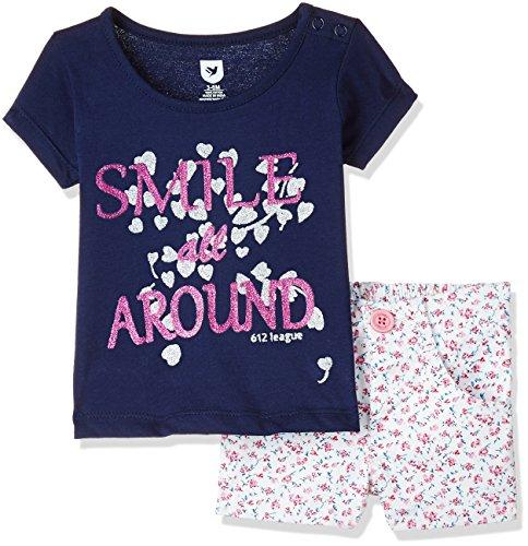 612 League Baby Girls' Clothing Set (ILS17I75007-6 - 12 Months-WHITE)