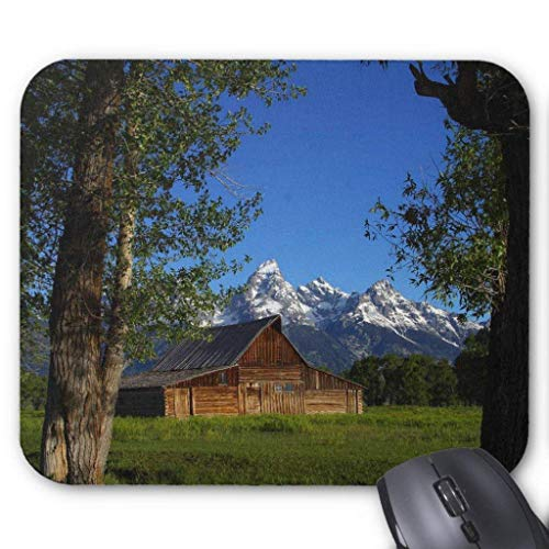 Drempad Gaming Mauspads Custom, Mormon Row Barns in Grand Teton Park Mouse Pad 11.8