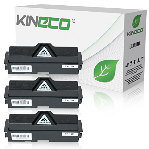 3 Toner kompatibel zu Kyocera TK-160 TK160 für Kyocera Ecosys P2035DN, Ecoxys P2000 Series, FS-1120DN - 1T02LY0NL0 - Schwarz je 2.500 Seiten Kyocera-3