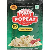 PopEat Chilli Delight Instant Popcorn (Pack of 10 X 40 Grms)