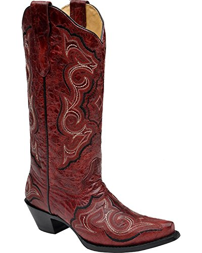 Corral Boots  E1006, Bottes et bottines cowboy femme Rouge - Red Black