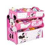 Delta Children - Organizador de Minnie de madera para guardar juguetes - TB84869MN -