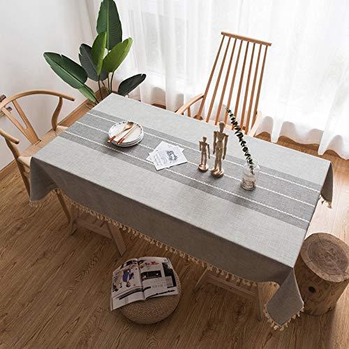 YCAZSH Manteles Mantel Decorativo Mantel de Encaje de Lino Mantel Rectangular Cubierta...