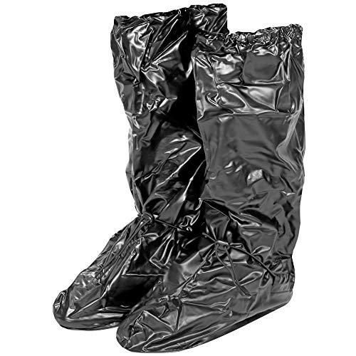 Copriscarpe impermeabili in PVC - Resistenti e riutilizzabili - Copriscarpa con suola antiscivolo rinforzata - Galosce pioggia neve e fango - Modello alto - Nero (S (36-39), NERO)