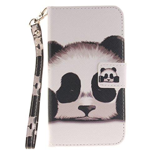 3f75a0f6f79 Custodia Samsung Galaxy Grand Prime Panda PU Pelle Chiusura Magnetica Stare  in piedi Flip Portafoglio Protettiva