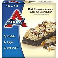 Atkins Advantage Dark Chocolate Almond Coconut Crunch Bar, 5ct, Dark Chocolate Almond Coconut Crunch, 1