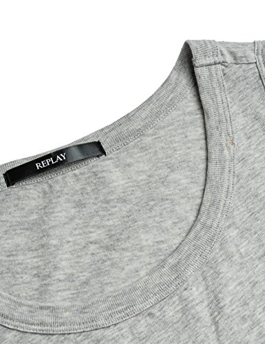 Replay Damen Top Grau (Grey Melange M04)