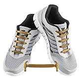 WELKOO® Lacets Elastique en Silicone Sans Lacage Etanche pour Chaussure Enfant -12pcs Couleur GOLD
