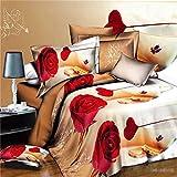 huyiming bed linings Utilisé pour la Version 3D de Grande Taille de la Housse de Courtepointe Quatre pièces à Angle Droit : 200 * 230cm Feuilles: 220 * 230cm