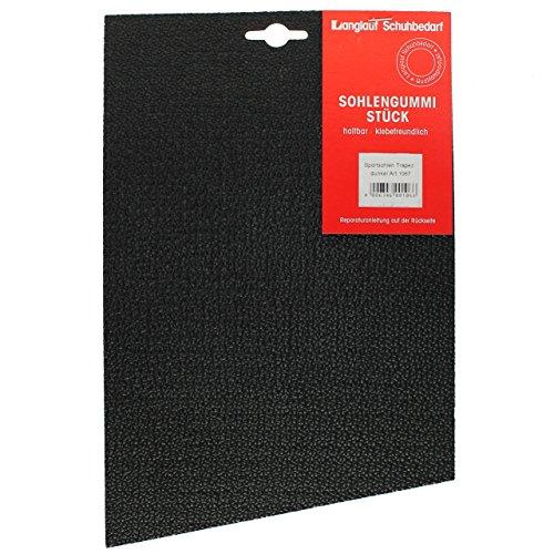 Sohlengummi Sport ca. 4 mm, schwarz von Langlauf Schuhbedarf®