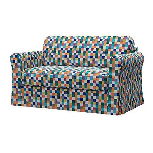 Soferia - IKEA HAGALUND Funda para sofá Cama, Mozaik White