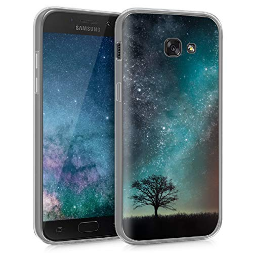 kwmobile Samsung Galaxy A5 (2017) Hülle - Handyhülle für Samsung Galaxy A5 (2017) - Handy Case in Blau Grau Schwarz -