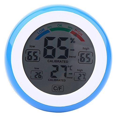 Fdit Termómetro Temperatura LCD Digital Higrómetro