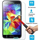 Samsung Galaxy S5 Premium Shock Proof Tempered Glass Screen Protector, Toughened Glass Protective Film, HD Anti Fngerprint Mobile phone screen protector