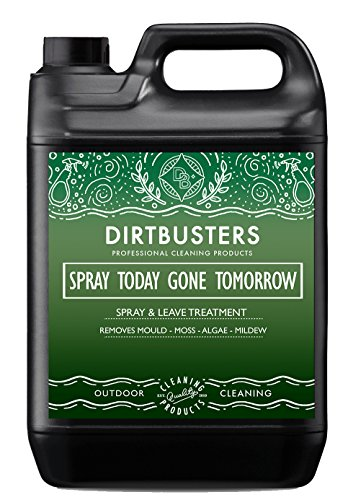 The Dirtbusters Spray Today Gone Tomorrow can be fetched at an affordable price and is described as a professional grade detergent disinfectant treatment. Featuring a strong formulation, this decking liquid is capable of getting rid of dirt, moss, algae and mould from your surfaces. Not limited to decks only, you can use this solution on your patio, shed, fences or uPVC structures to keep them in good condition.