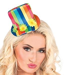 Boland 55504 - Adulto caramelo sombrero de payaso, un tamaño, Multicolor