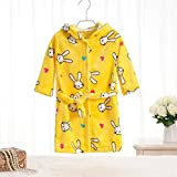 WEILIVE Gemütlich Kinder Kid Boy Girl verdickte Flanell Hooded Bademantel Kaninchen Muster Bademantel Nachthemd Nachtwäsche Handtuch-Kleid