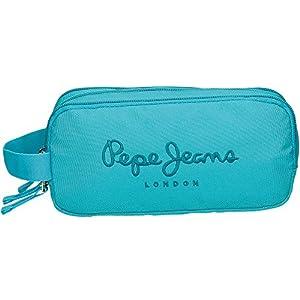 Pepe Jeans Plain Color Neceser de Viaje, 1.98 litros, Color Verde Mar