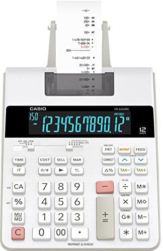 CASIO FR-2650RC Tischrechner 12-stellig druckend (Casio Taschenrechner Rot)