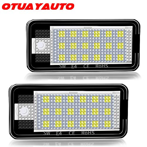LED Kennzeichenbeleuchtung, OTUAYAUTO Kennzeichen Led Nummernschildbeleuchtung für A3 8P, A4 B6 B7, A6 4F
