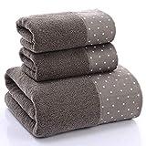 EEvER Wohnkultur Ideales Geschenk Badetücher Set, 1 Set mit 3 Punkten Bedruckte Baumwollhandtuch Handtuch Badetücher