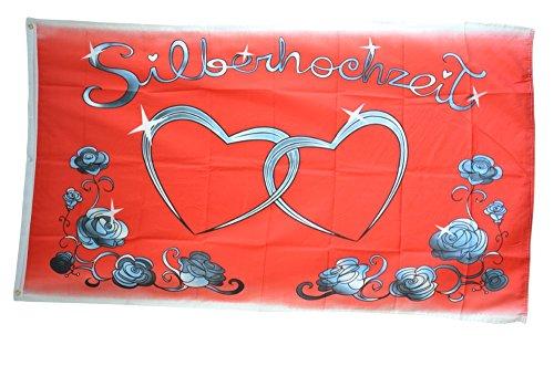 ge Silberhochzeit - 90 x 150 cm ()