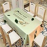 QWEASDZX Mantel Poliéster A Prueba de Aceite y Resistente al Agua Mantel Multifuncional Adecuado para Interiores y Exteriores Manteles Mesa Rectangular 100x140cm
