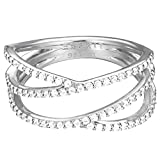 Esprit Damen-Ring 925 Sterling Silber Zirkonia brilliance weiß ESRG92531A170
