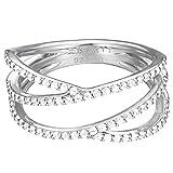 Esprit Damen-Ring 925 Sterling Silber Zirkonia brilliance weiß ESRG92531A170