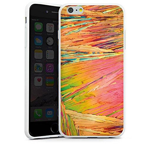 Apple iPhone X Silikon Hülle Case Schutzhülle Regenbogen Kratzer Bunt Silikon Case weiß
