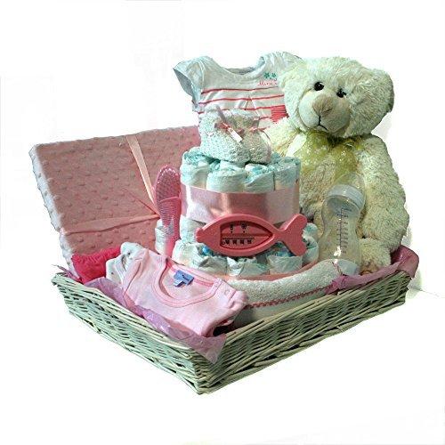 Cesta tarta pañales niña Dodot - Cesta Combi rosa