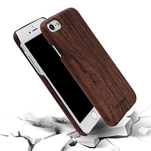 Funda iPhone 7, Funda iPhone 8 Carcasa, SHOWKOO Madera Auténtica Ultra Delgada...