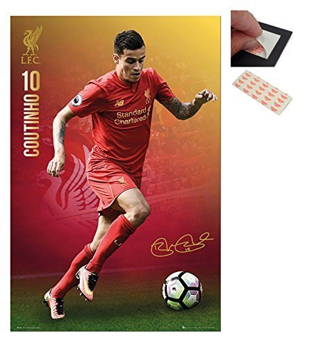 bundle-2-items-liverpool-fc-philippe-coutinho-2016-2017-poster-915-x-61cms-36-x-24-inches-and-a-set-